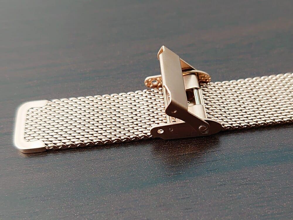 Luana(ルアナ)P08L 32mm ピンクゴールド メッシュストラップ LIAKULEA(リアクレア)ピンクゴールド メッシュストラップ 中留め ロック機構 1