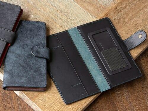 プエブロ&リスシオ 手帳型iPhoneケース(XS サイズ以下対応) NIBUR(ニブール)Mens Leather Store(メンズレザーストア)