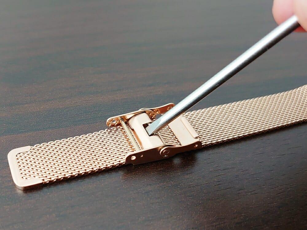 Luana(ルアナ)P08L 32mm ピンクゴールド メッシュストラップ LIAKULEA(リアクレア)ピンクゴールド メッシュストラップ サイズ調整