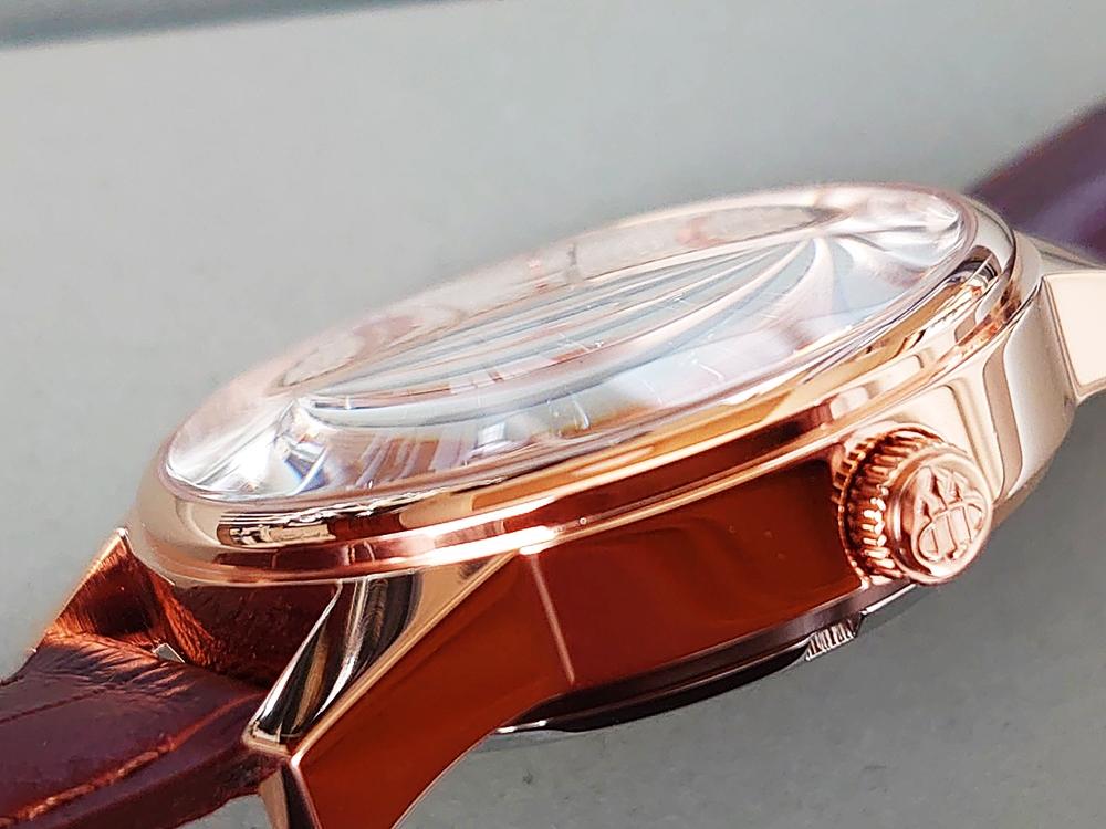 DYNASTY CHARLEMAGNE BROWN 40mm(ダイナスティー)ピンクゴールド ブラウンレザー LOBOR(ロバー)ミネラルガラス