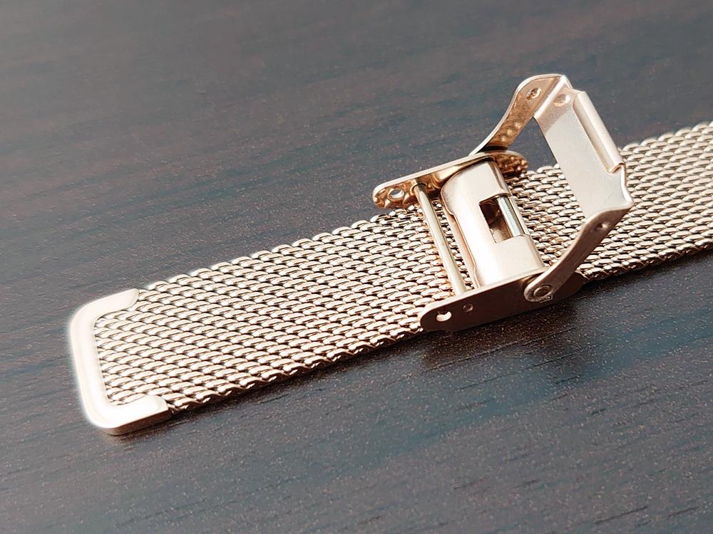 Luana(ルアナ)P08L 32mm ピンクゴールド メッシュストラップ LIAKULEA(リアクレア)ピンクゴールド メッシュストラップ 中留め ロック機構 2