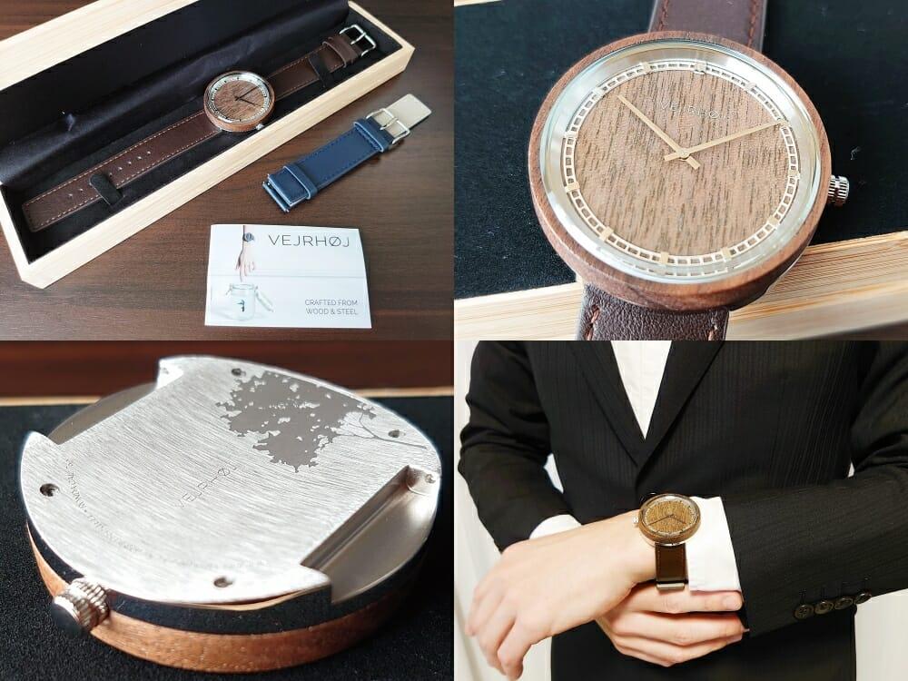 ARCHシリーズ 42mm 天然のくるみの木 「ARCH 01」シルバー VEJRHØJ(ヴェアホイ)腕時計レビュー カスタムファッションマガジン
