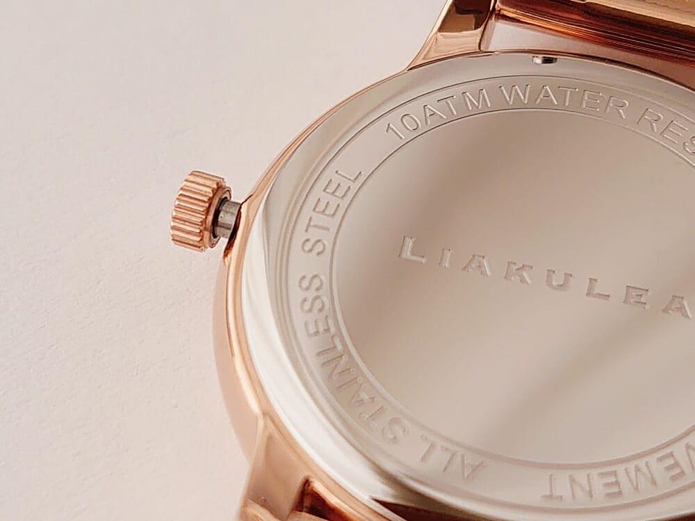 Luana(ルアナ)P08L 32mm ピンクゴールド メッシュストラップ LIAKULEA(リアクレア)リューズの不満点 開いた状態