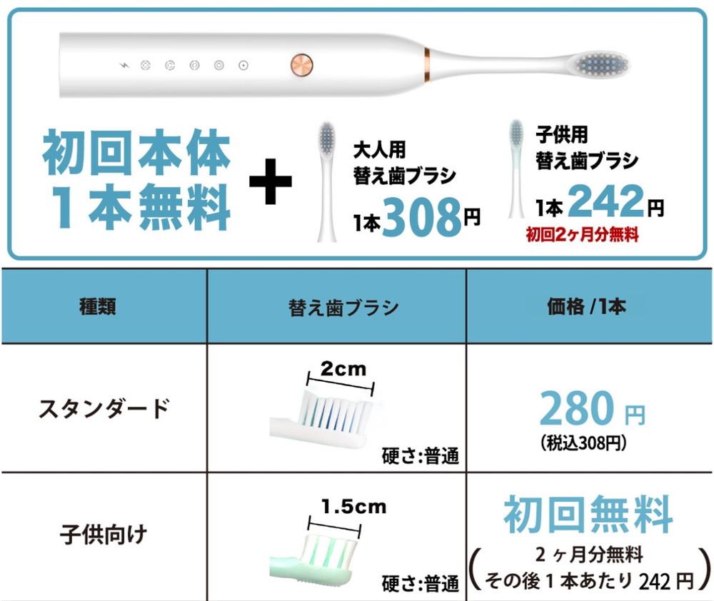 ガレイドデンタルメンバー 電動歯ブラシ 基本料金