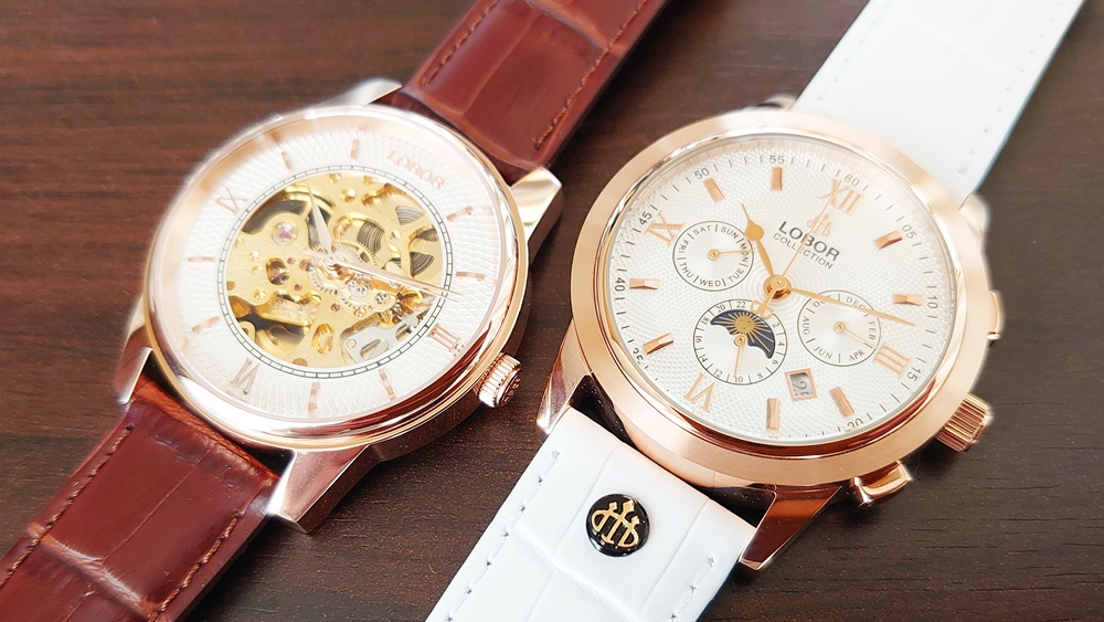 DYNASTY CHARLEMAGNE BROWN 40mm(ダイナスティー)CELLINI GUILDFORD(WHITE)42mm(セリーニ)比較 LOBOR(ロバー)