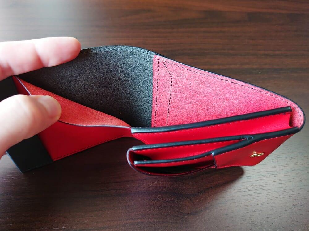リスシオ ショート財布「Black x Red」NIBUR(ニブール)Mens Leather Store(メンズレザーストア)札入れ