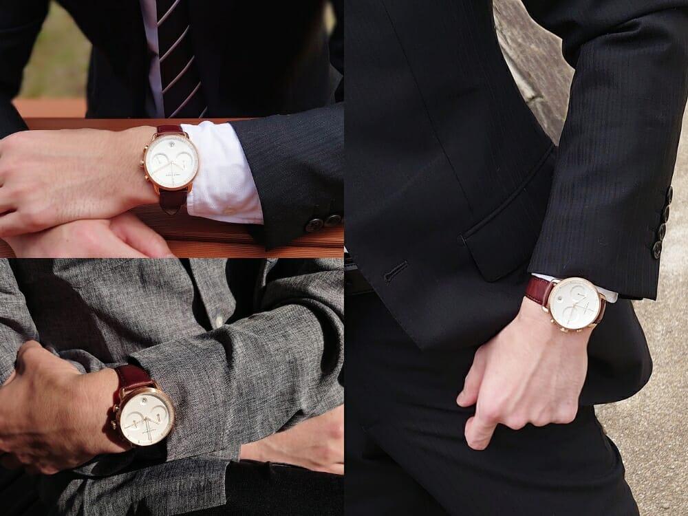 ビジネス腕時計 ビジネスマン スーツ カジュアルシャツ Nordgreen ノードグリーン Pioneer パイオニア 着用2 カスタムファッションマガジン