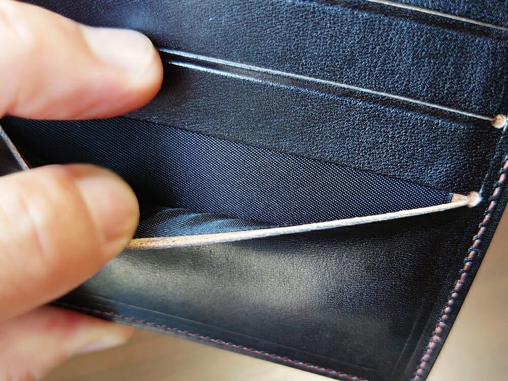 手揉みレザー マネークリップ コインケース付き LONESOME(ロンサム)Mens Leather Store(メンズレザーストア)カードポケット 内側生地