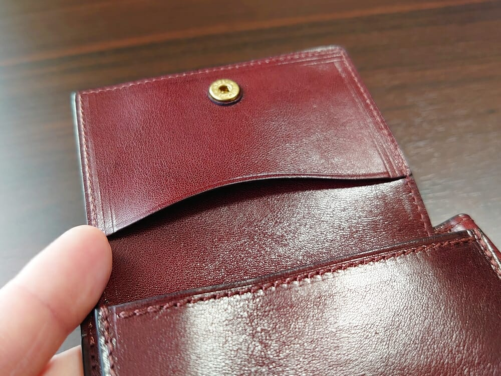手揉みレザー マネークリップ コインケース付き LONESOME(ロンサム)Mens Leather Store(メンズレザーストア)コインケース 小銭入れ フタ ミニ収納