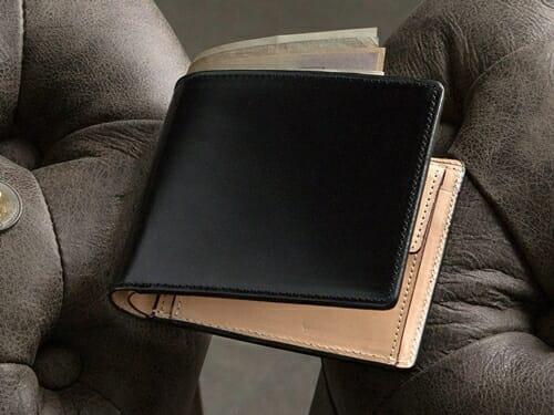 アニリン染めコードバン 二つ折り財布 CIMABUE(チマブエ)Mens Leather Store(メンズレザーストア)