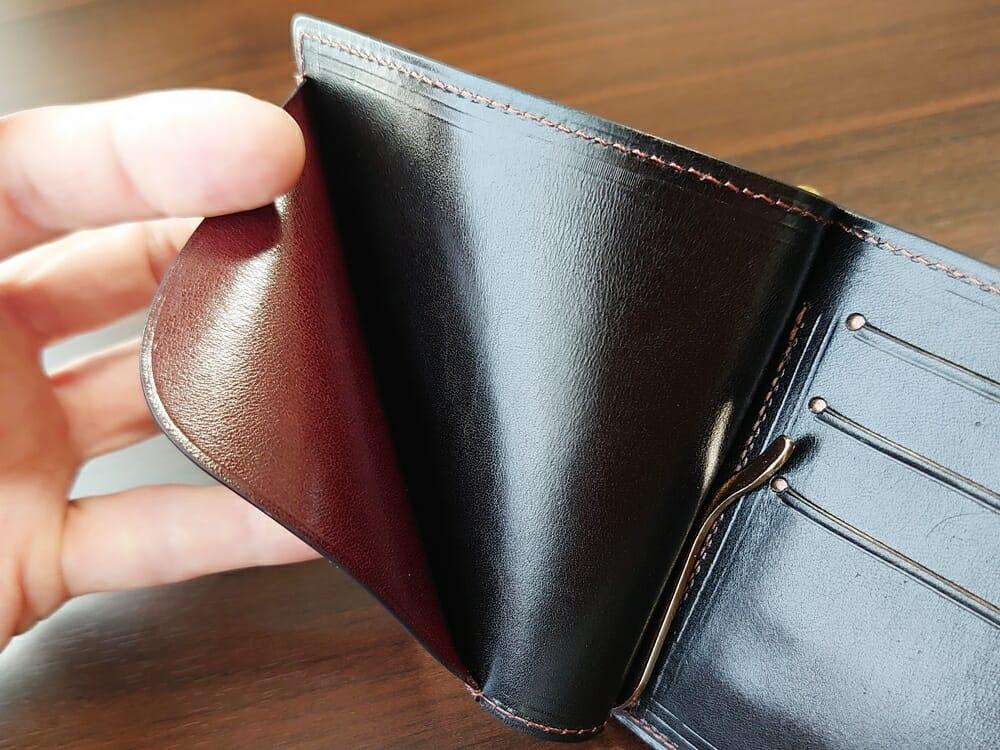 手揉みレザー マネークリップ コインケース付き LONESOME(ロンサム)Mens Leather Store(メンズレザーストア)チケットホルダー