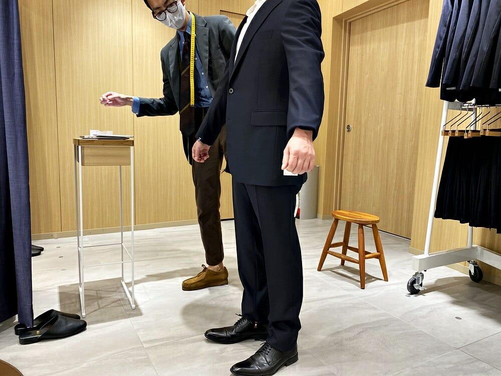 FABRIC TOKYO(ファブリックトウキョウ) 採寸 袖丈の調整