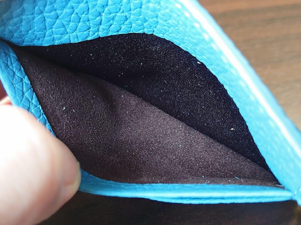 シュランケンカーフ マネークリップ(Blue)CIMABUE(チマブエ)Mens Leather Store(メンズレザーストア)カードポケット 内側の生地