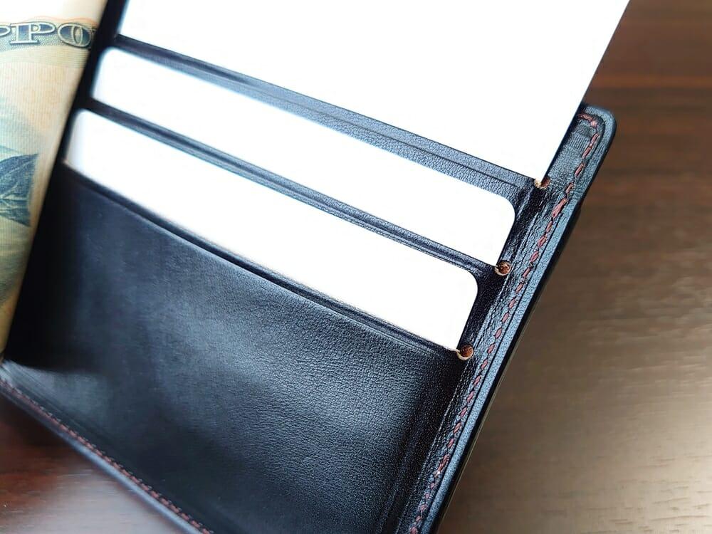 手揉みレザー マネークリップ コインケース付き LONESOME(ロンサム)Mens Leather Store(メンズレザーストア)カードポケット カード3枚収納