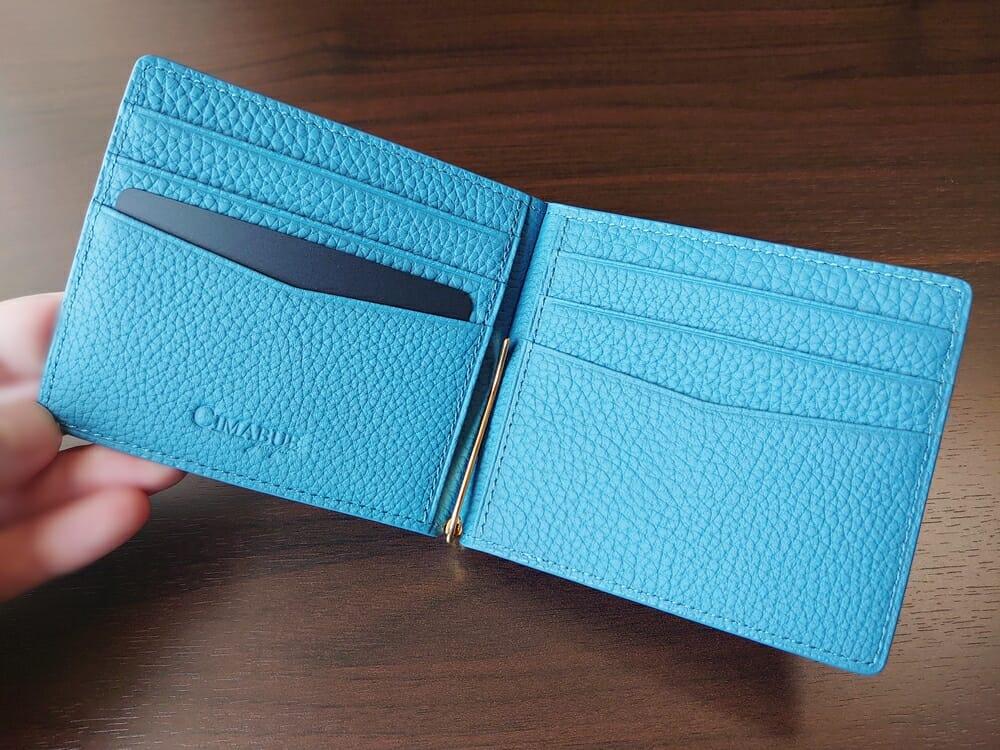 シュランケンカーフ マネークリップ(Blue)CIMABUE(チマブエ)Mens Leather Store(メンズレザーストア)内装 1