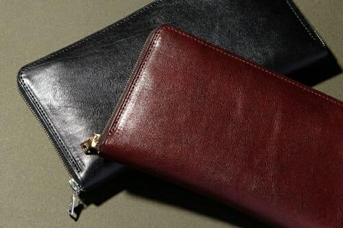 手揉みレザー 薄型ラウンドジップ長財布 LONESOME(ロンサム)Mens Leather Store(メンズレザーストア)