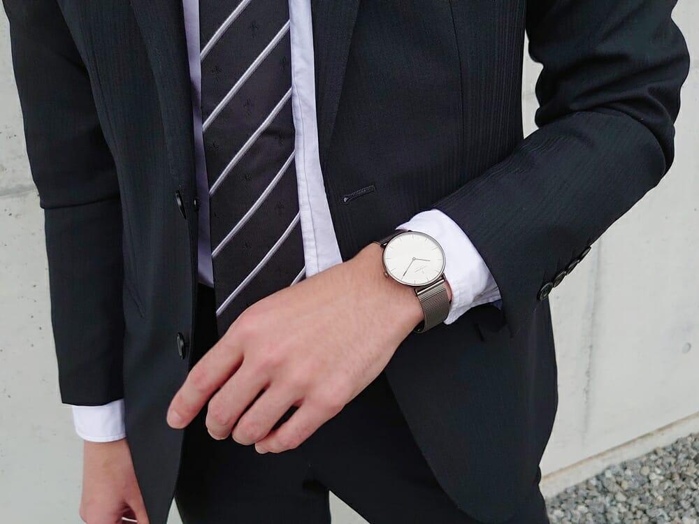 ビジネス腕時計 ビジネスマン スーツ Nordgreen ノードグリーン Native ネイティブ 着用 カスタムファッションマガジン