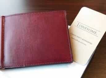 手揉みレザー マネークリップ コインケース付き(Bordeaux) LONESOME(ロンサム)Mens Leather Store(メンズレザーストア)レビュー カスタムファッション