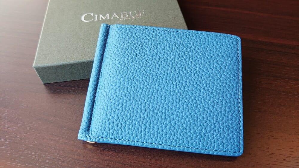 シュランケンカーフ マネークリップ(Blue)CIMABUE(チマブエ)Mens Leather Store(メンズレザーストア)財布レビュー