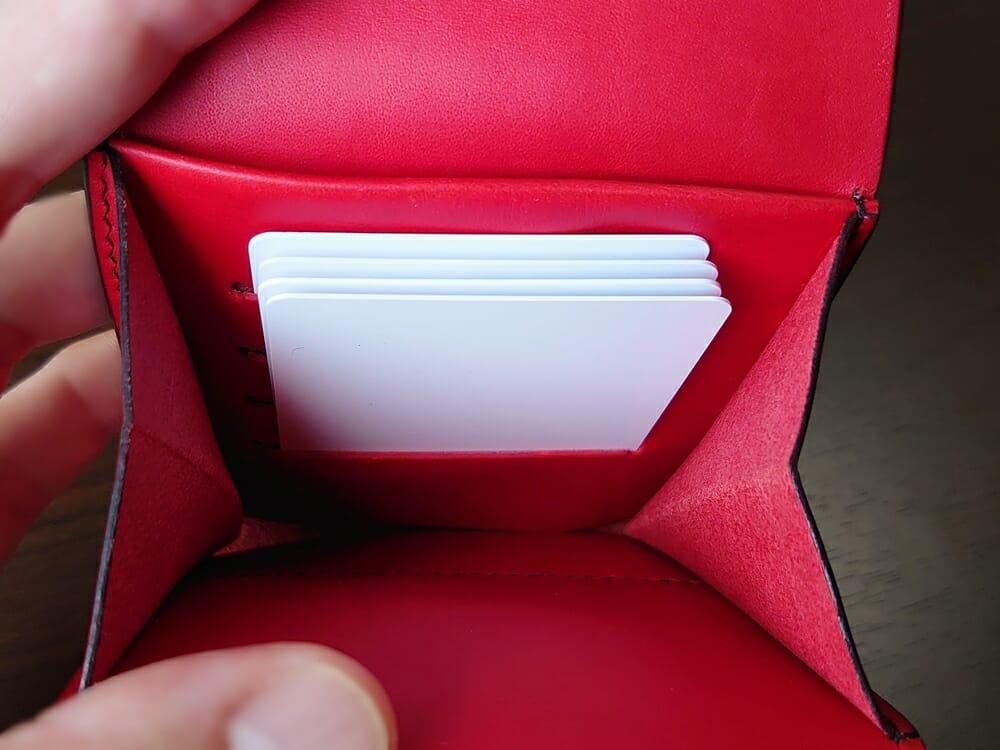 リスシオ ショート財布「Black x Red」NIBUR(ニブール)Mens Leather Store(メンズレザーストア)カード入れの使い勝手 1