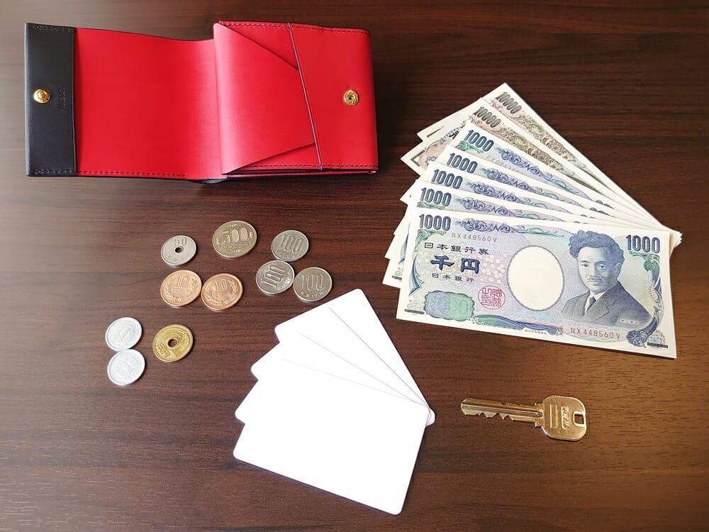 リスシオ ショート財布「Black x Red」NIBUR(ニブール)Mens Leather Store(メンズレザーストア)お金 カード 使い勝手