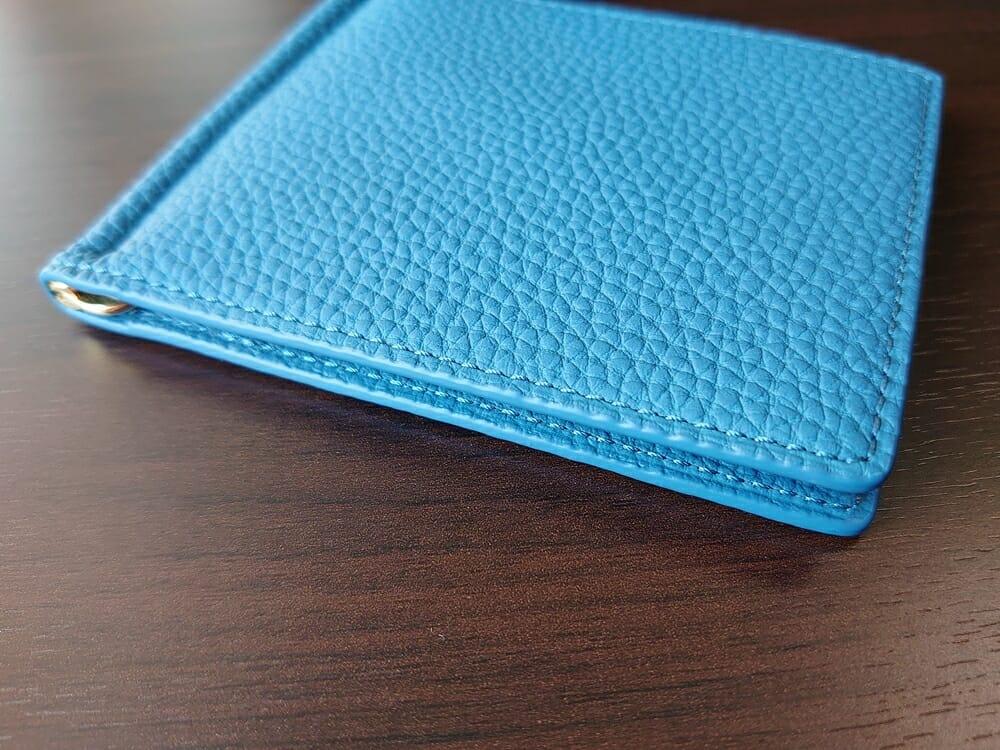 シュランケンカーフ マネークリップ(Blue)CIMABUE(チマブエ)Mens Leather Store(メンズレザーストア)ステッチ 縫い目