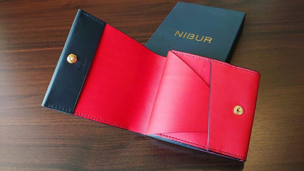 リスシオ ショート財布「Black x Red」NIBUR(ニブール)内装 Mens Leather Store(メンズレザーストア)財布レビュー カスタムファッションマガジン
