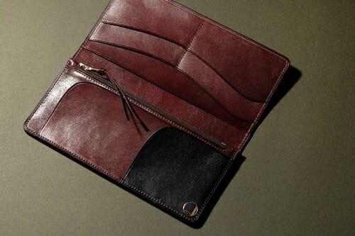 手揉みレザー 長財布(小銭入れ付) LONESOME(ロンサム)Mens Leather Store(メンズレザーストア)
