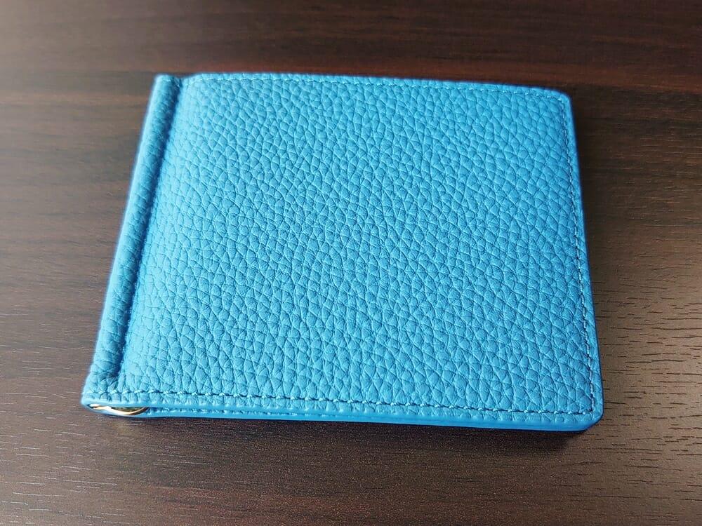 シュランケンカーフ マネークリップ(Blue)CIMABUE(チマブエ)Mens Leather Store(メンズレザーストア)外装 1