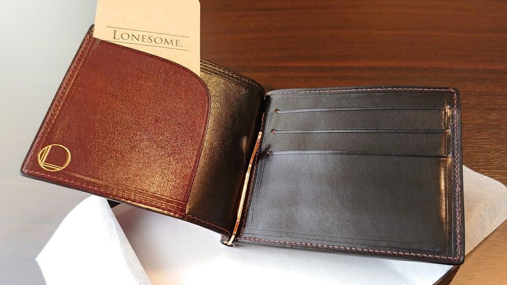 手揉みレザー マネークリップ コインケース付き(Bordeaux) LONESOME(ロンサム)Mens Leather Store(メンズレザーストア)レビュー カスタムファッション まとめ