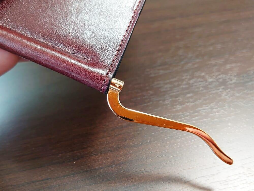 手揉みレザー マネークリップ コインケース付き LONESOME(ロンサム)Mens Leather Store(メンズレザーストア)クリップ 180度開いた状態