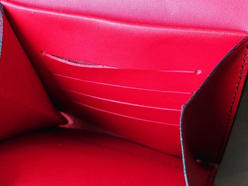 リスシオ ショート財布「Black x Red」NIBUR(ニブール)Mens Leather Store(メンズレザーストア)カード入れ カードポケット