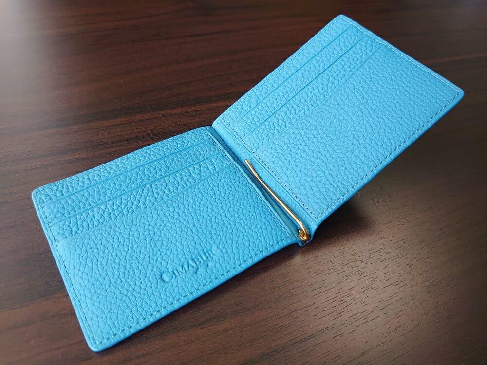 シュランケンカーフ マネークリップ(Blue)CIMABUE(チマブエ)Mens Leather Store(メンズレザーストア)内装 2