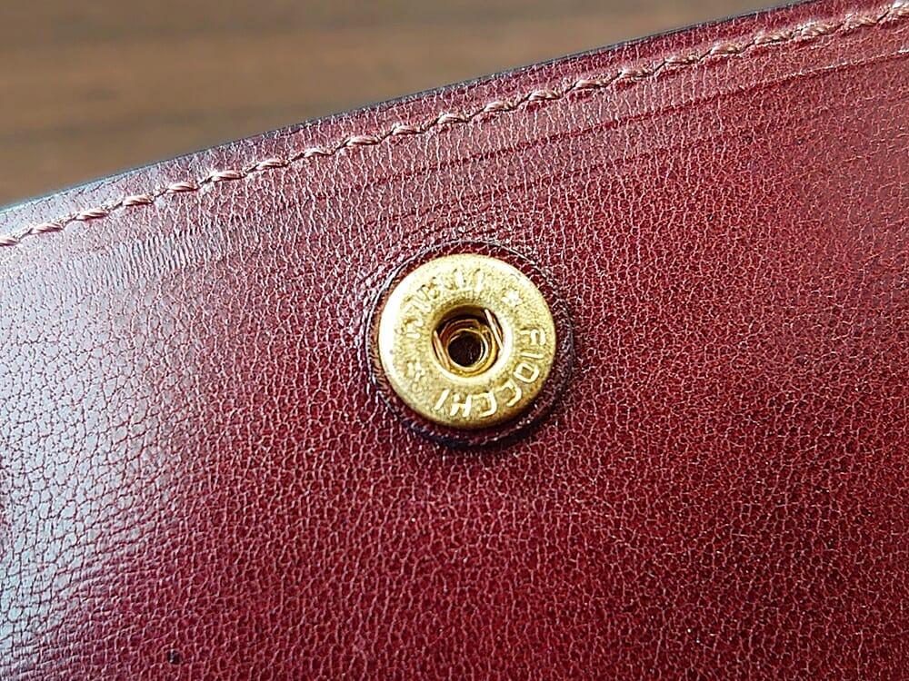 手揉みレザー マネークリップ コインケース付き LONESOME(ロンサム)Mens Leather Store(メンズレザーストア)コインケース 小銭入れ ボタン(ドイツ・プリム社製