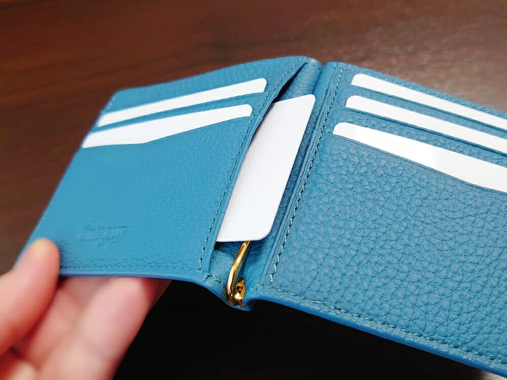 シュランケンカーフ マネークリップ(Blue)CIMABUE(チマブエ)Mens Leather Store(メンズレザーストア)マルチポケット 使用感