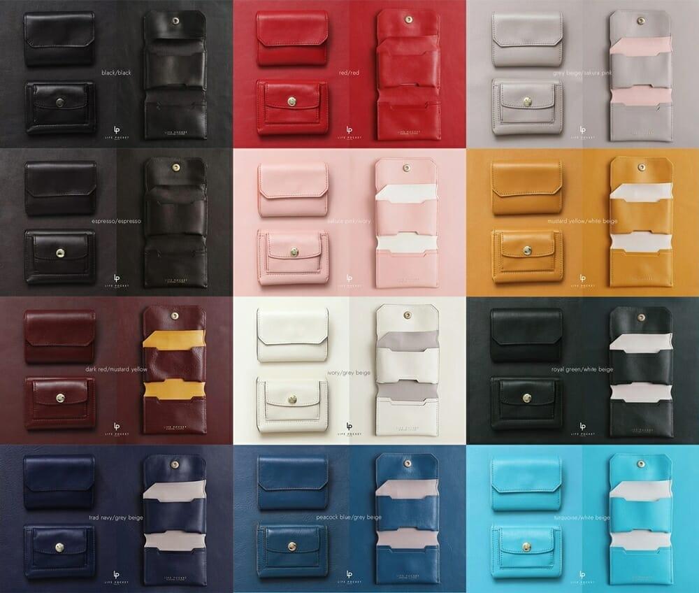 LIFE POCKET ライフポケット MiniWallet3 ミニウォレット3 カラーバリエーション