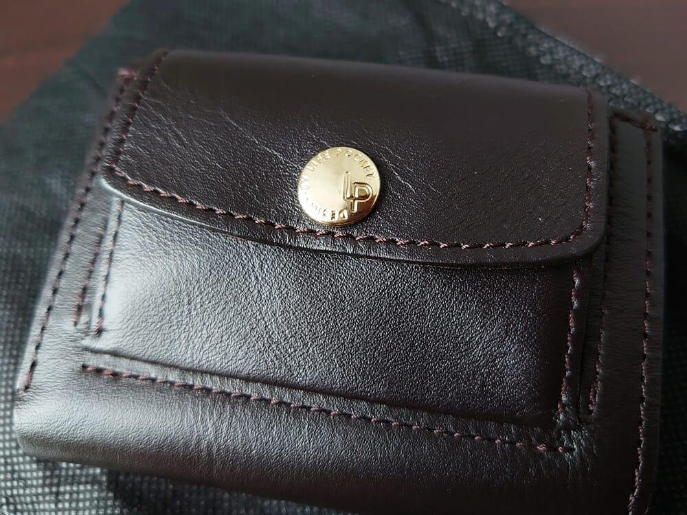 LIFE POCKET(ライフポケット)MiniWallet3 ミニウォレット3 espresso エスプレッソ ロゴ入り ゴールドホック