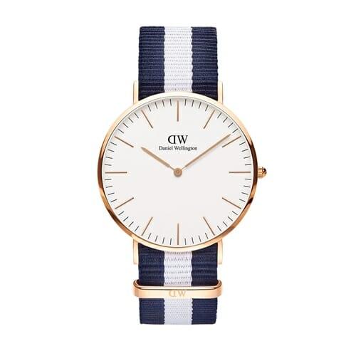 グラスゴー ローズ 40mm 腕時計 Classic Glasgow 0104dw Daniel Wellington(ダニエルウェリントン)