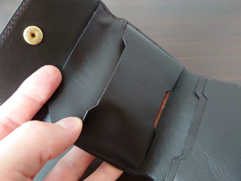 LIFE POCKET(ライフポケット)MiniWallet3 ミニウォレット3 espresso エスプレッソ 財布 中央ポケット2