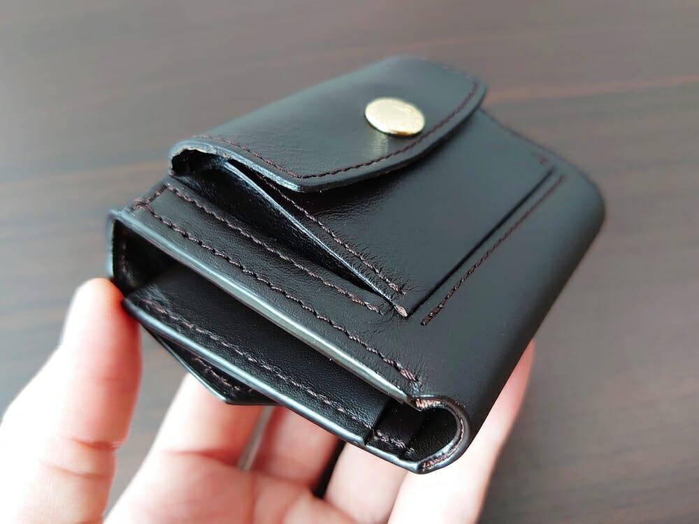 LIFE POCKET(ライフポケット)MiniWallet3 ミニウォレット3 espresso エスプレッソ 財布 デザイン 小銭入れ 薄めの革
