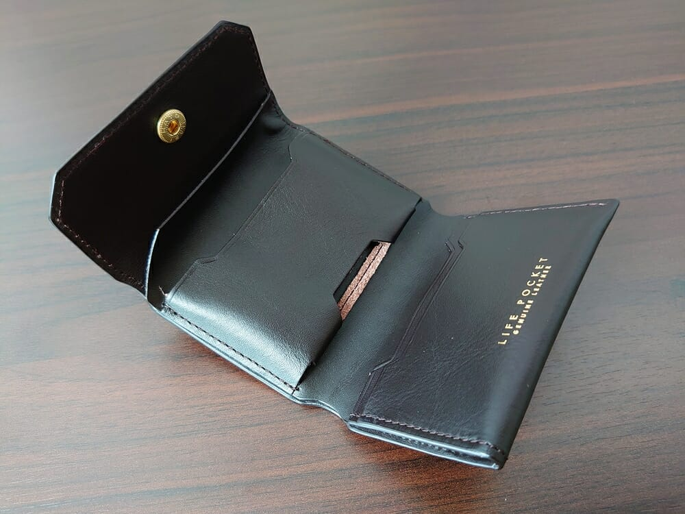 LIFE POCKET(ライフポケット)MiniWallet3 ミニウォレット3 espresso エスプレッソ 財布 機能的な収納ポケット