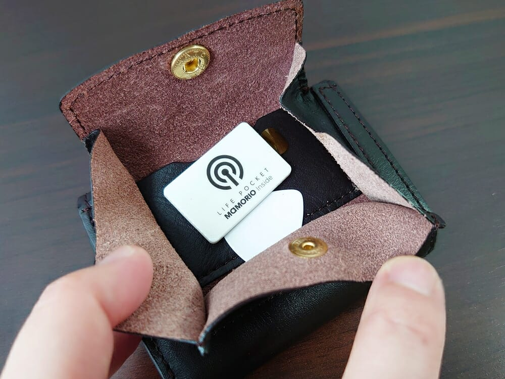 LIFE POCKET(ライフポケット)MiniWallet3 ミニウォレット3 espresso エスプレッソ 付属品 MAMORIO マモリオ 小銭入れの中