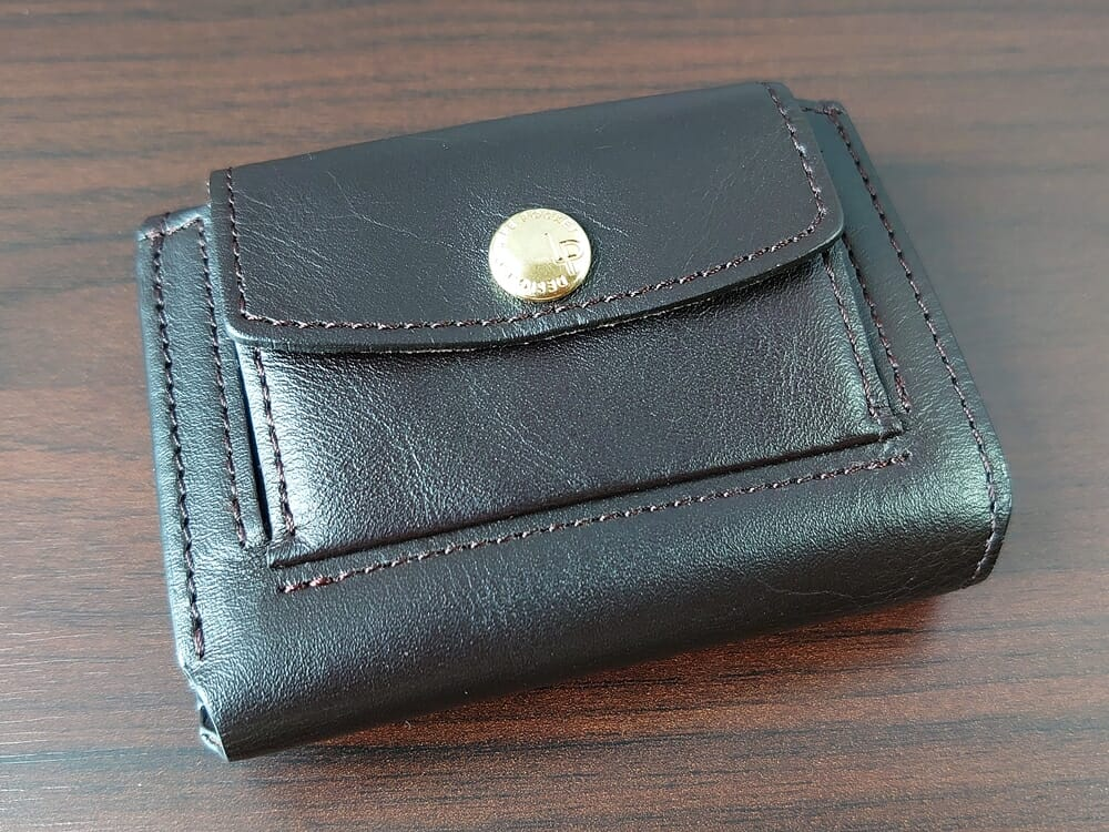 LIFE POCKET(ライフポケット)MiniWallet3 ミニウォレット3 espresso エスプレッソ 財布 デザイン 小銭入れ側1