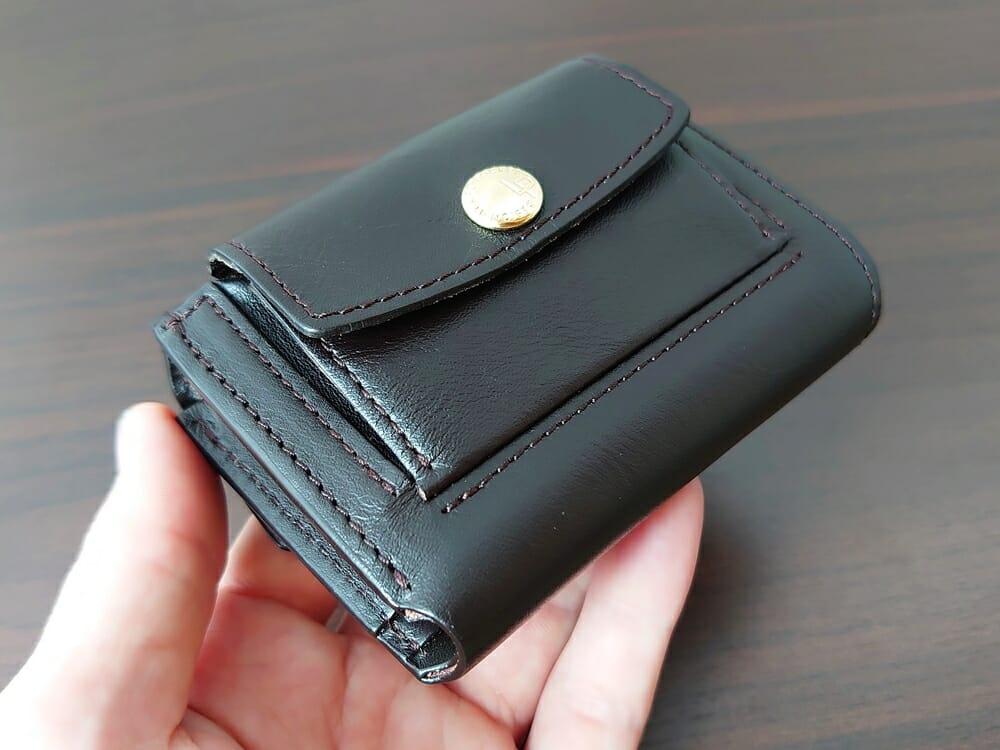 LIFE POCKET(ライフポケット)MiniWallet3 ミニウォレット3 espresso エスプレッソ 財布 デザイン 小銭入れ側2