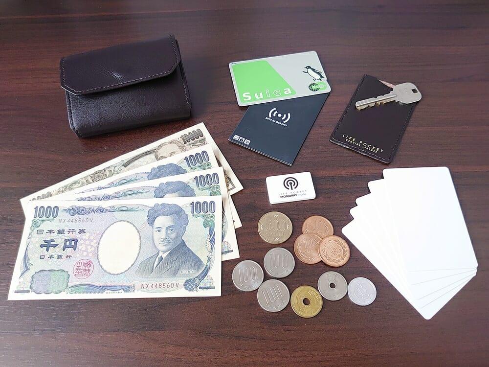 LIFE POCKET(ライフポケット)MiniWallet3 ミニウォレット3 espresso エスプレッソ お金やカードを入れての使い勝手