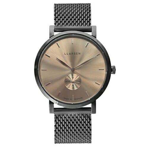 2020AWコレクション Nikolaj (LW43) Oxidized steel with Oxidized bracelet Honey dial 143OHOM LLARSEN(エルラーセン)
