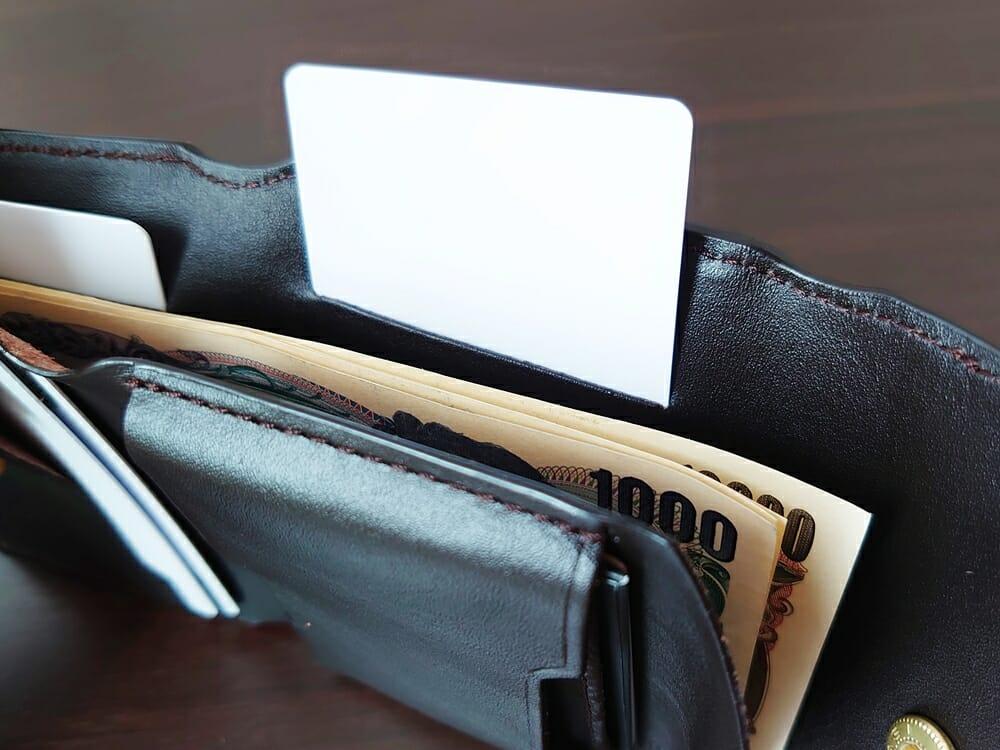 LIFE POCKET(ライフポケット)MiniWallet3 ミニウォレット3 espresso エスプレッソ 使い勝手 札スペースのカードポケット2
