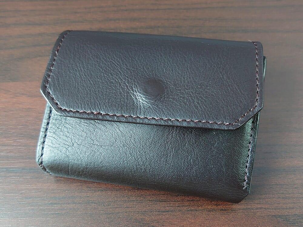 LIFE POCKET(ライフポケット)MiniWallet3 ミニウォレット3 espresso エスプレッソ 財布 デザイン かぶせホック側