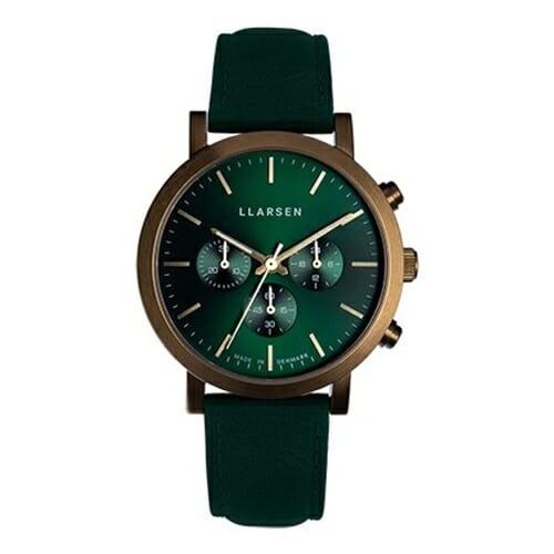 NOR Chronograph (LW49) -Bronze with green strap 149ZFGN LLARSEN(エルラーセン)