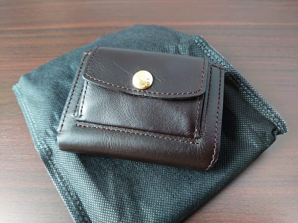 LIFE POCKET(ライフポケット)MiniWallet3 ミニウォレット3 espresso エスプレッソ 財布全体 小銭入れ側